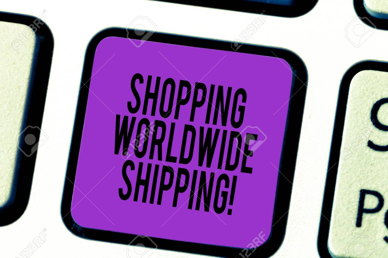 Handwriting text Shopping Worldwide Shipping  Concept meaning