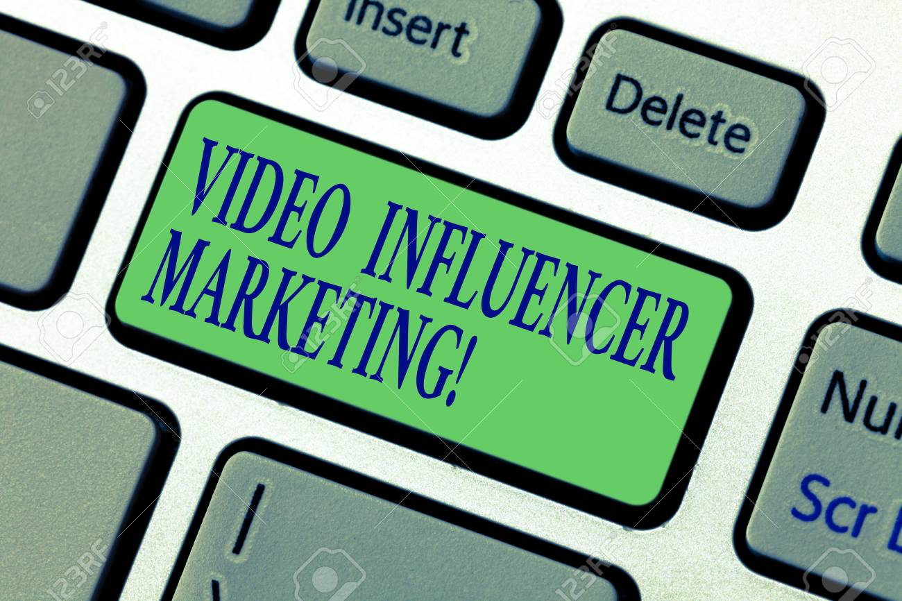 Writing note showing Video Influencer Marketing  Business photo