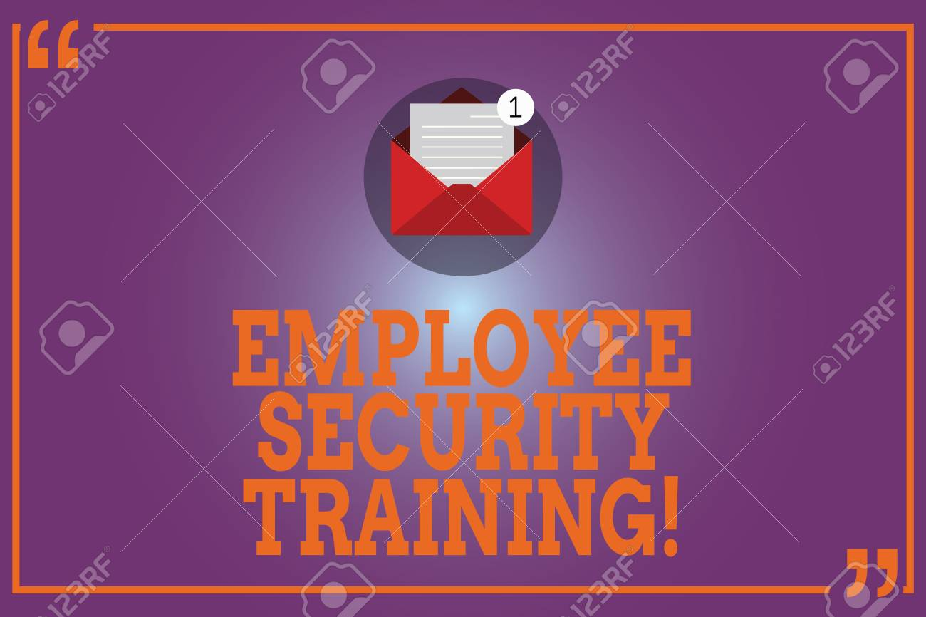 Conceptual hand writing showing Employee Security Training  Business