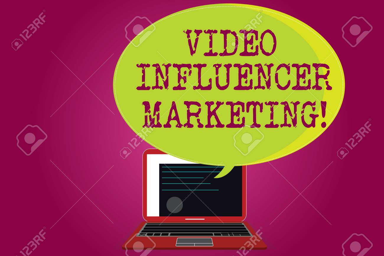Conceptual hand writing showing Video Influencer Marketing  Business