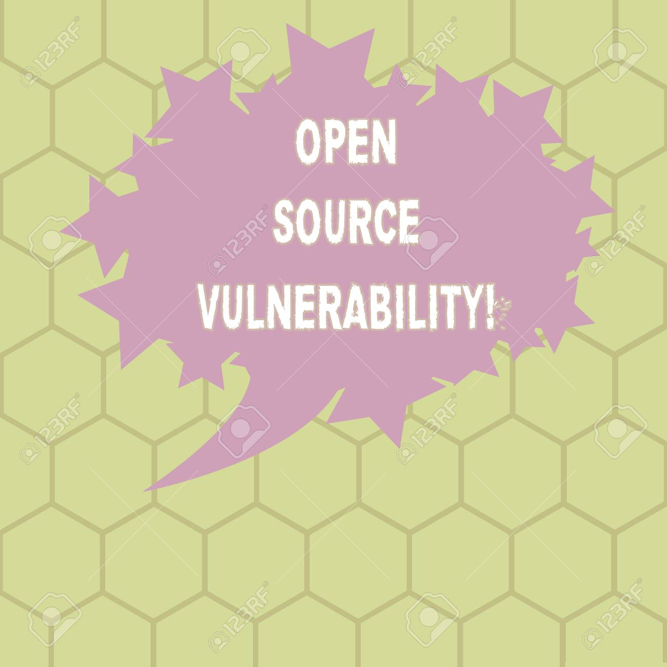 Conceptual hand writing showing Open Source Vulnerability  Business