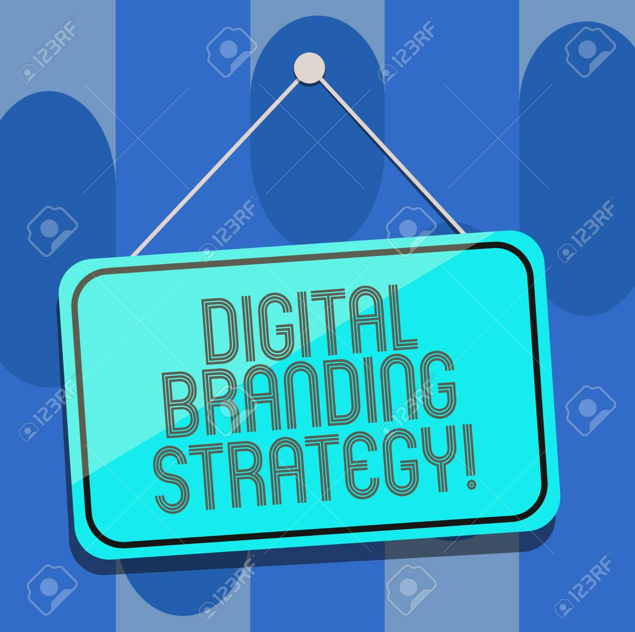 Handwriting text Digital Branding Strategy  Concept meaning develop