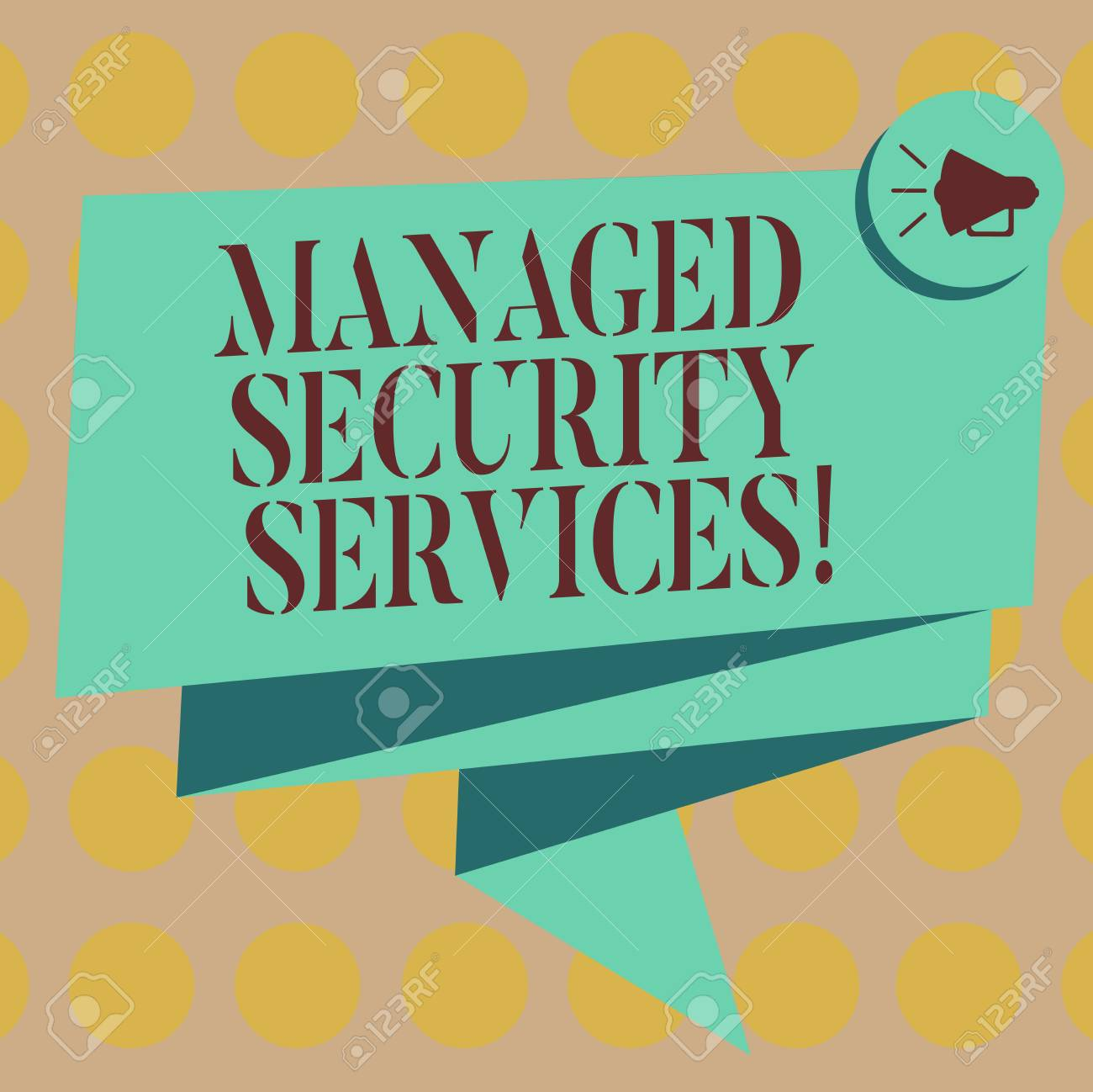 Word writing text Managed Security Services  Business concept