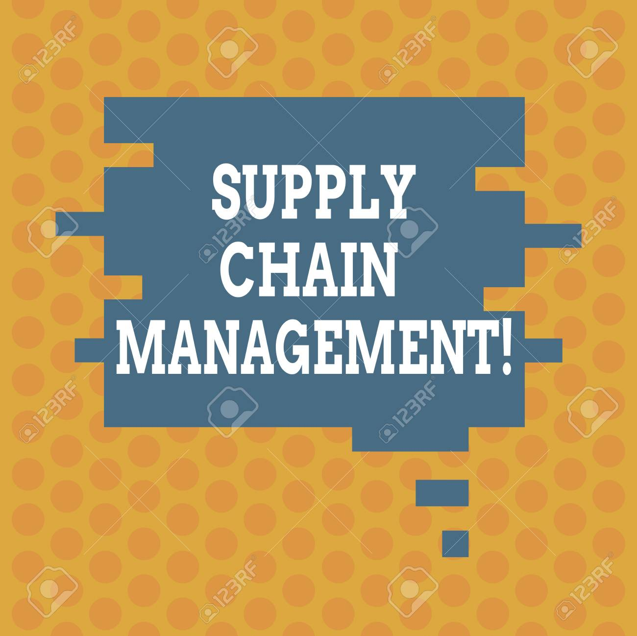 write a note on supply chain management
