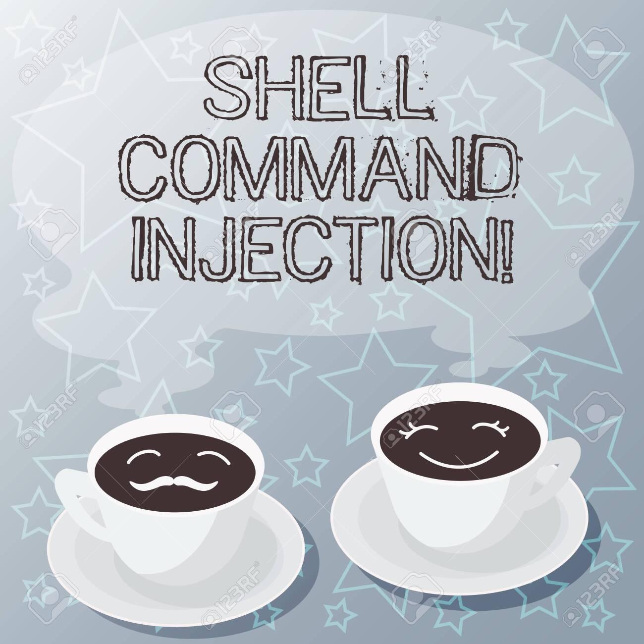 Handwriting text writing Shell Comanalysisd Injection  Concept