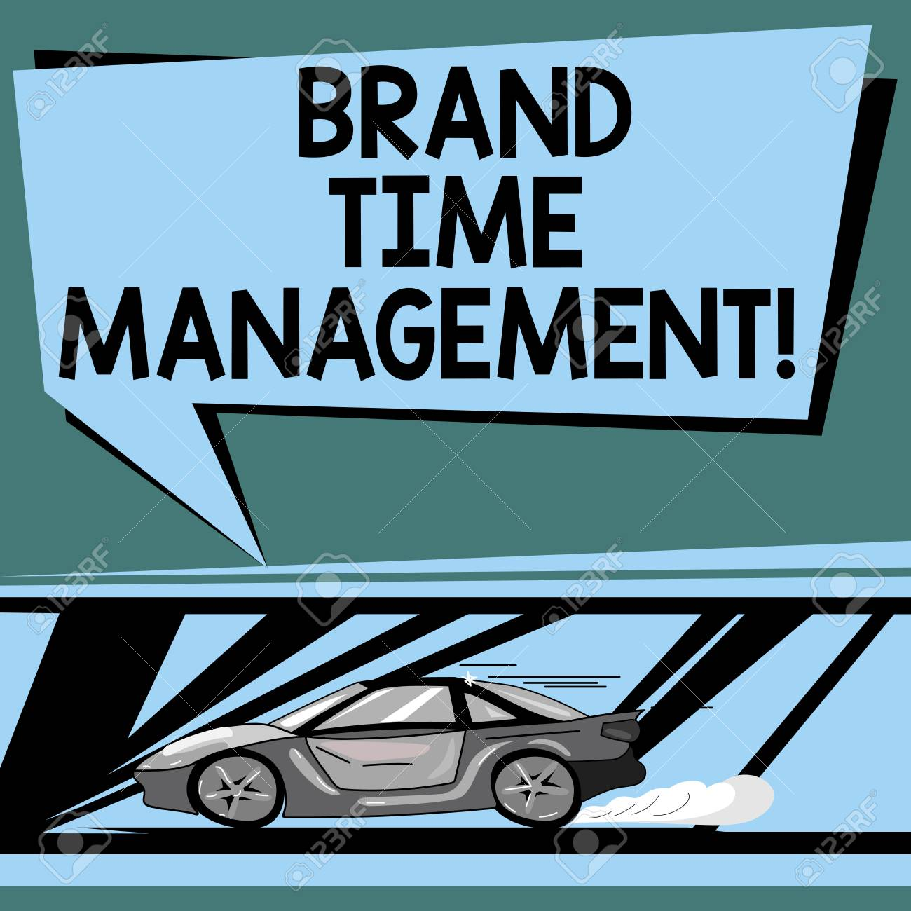 Text Sign Showing Brand Time Management Conceptual Photo Increase