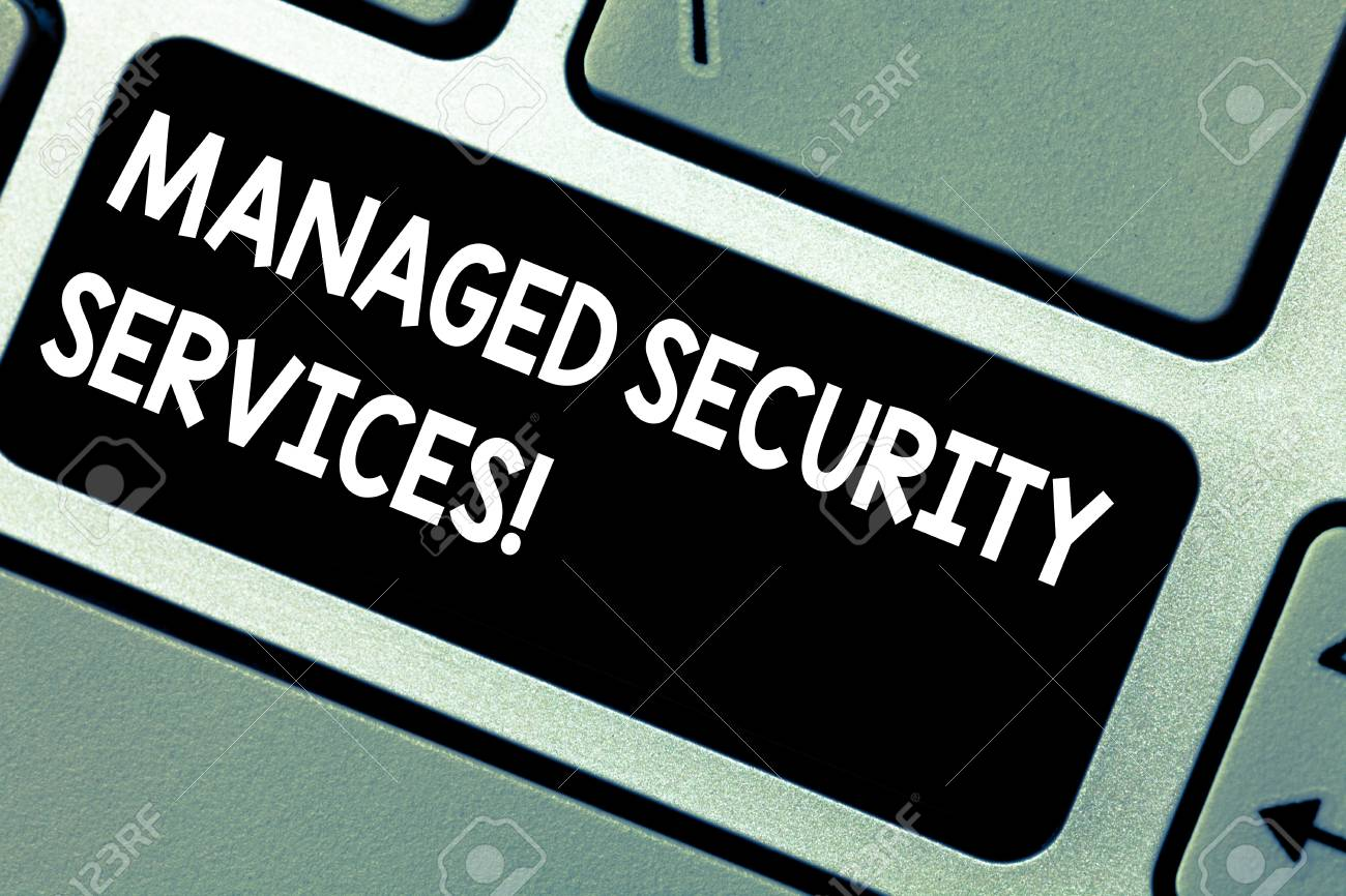 Handwriting text Managed Security Services  Concept meaning approach