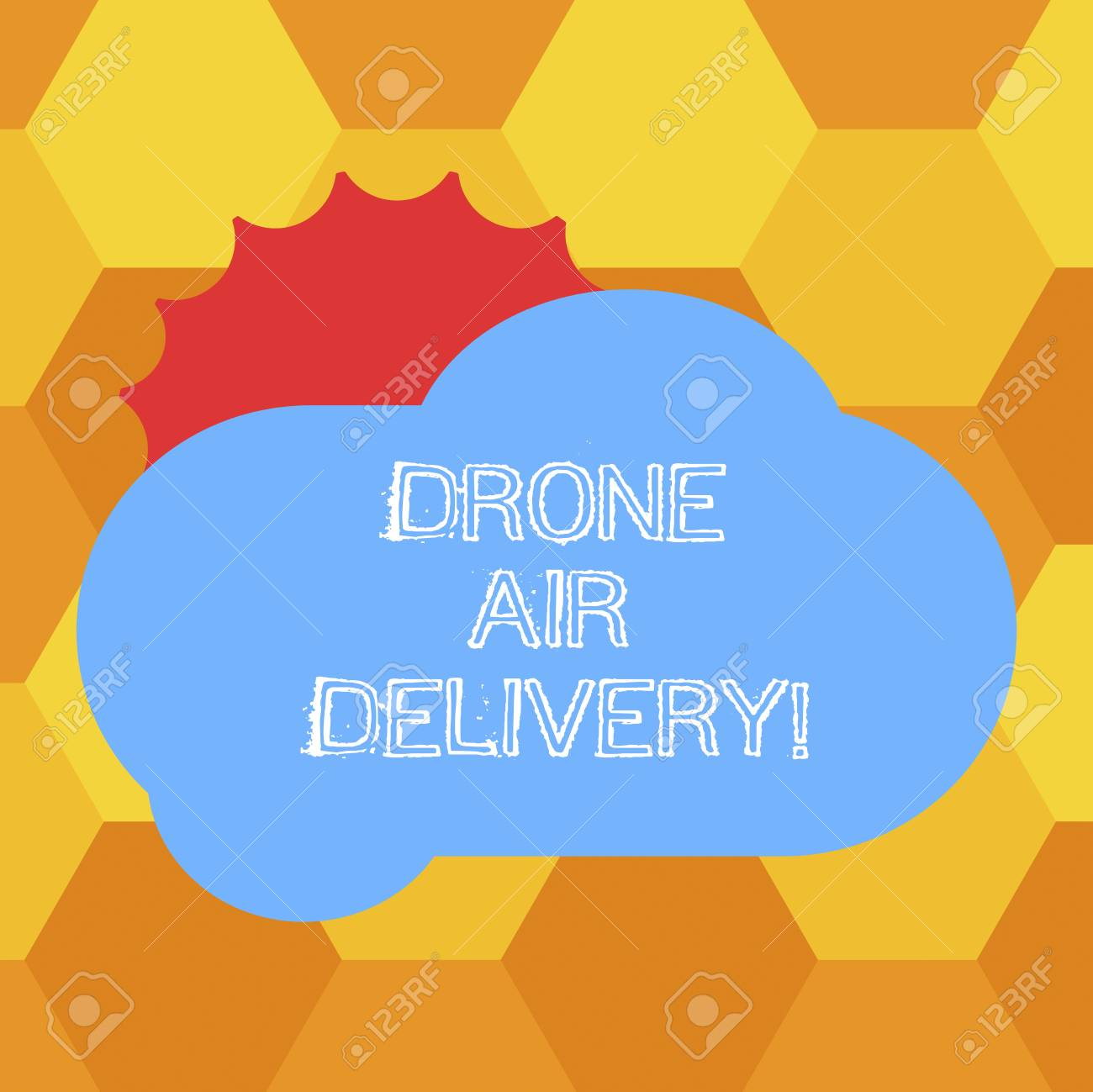 Handwriting text Drone Air Delivery  Concept meaning unanalysisned