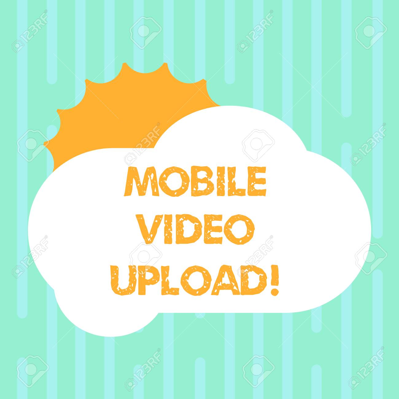 Word writing text Mobile Video Upload  Business concept for add