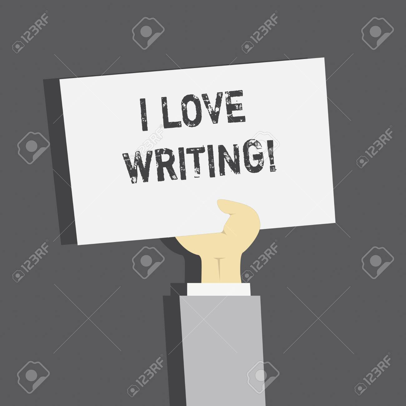 Handwriting text I Love Writing  Concept meaning Affection for