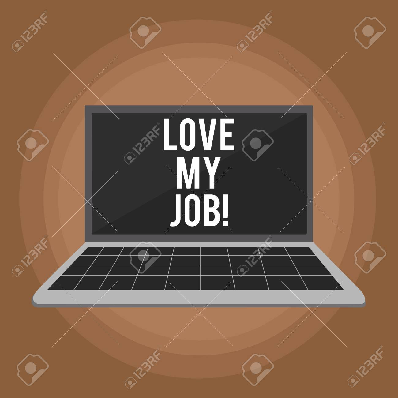 Handwriting text writing Love My Job  Concept meaning To be pleased