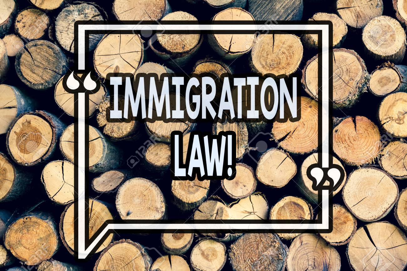 Writing note showing Immigration Law  Business photo showcasing