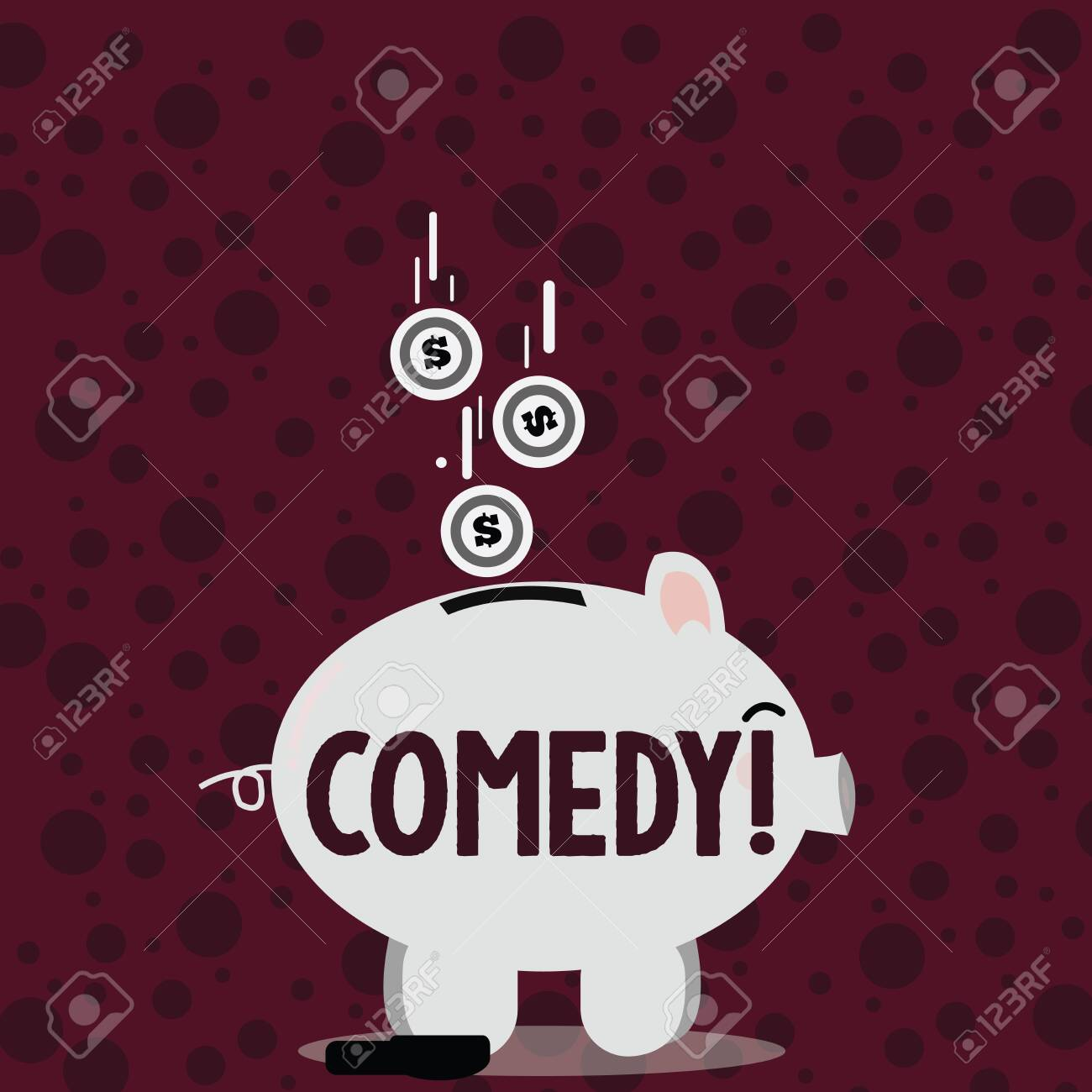 Writing Note Showing Comedy Business Concept For Fun Humor Satire