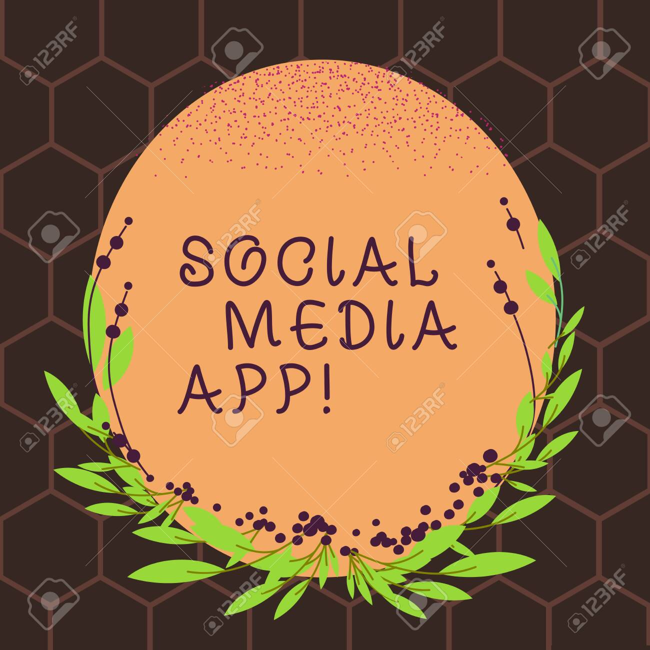 Text Sign Showing Social Media App Business Photo Text Creation