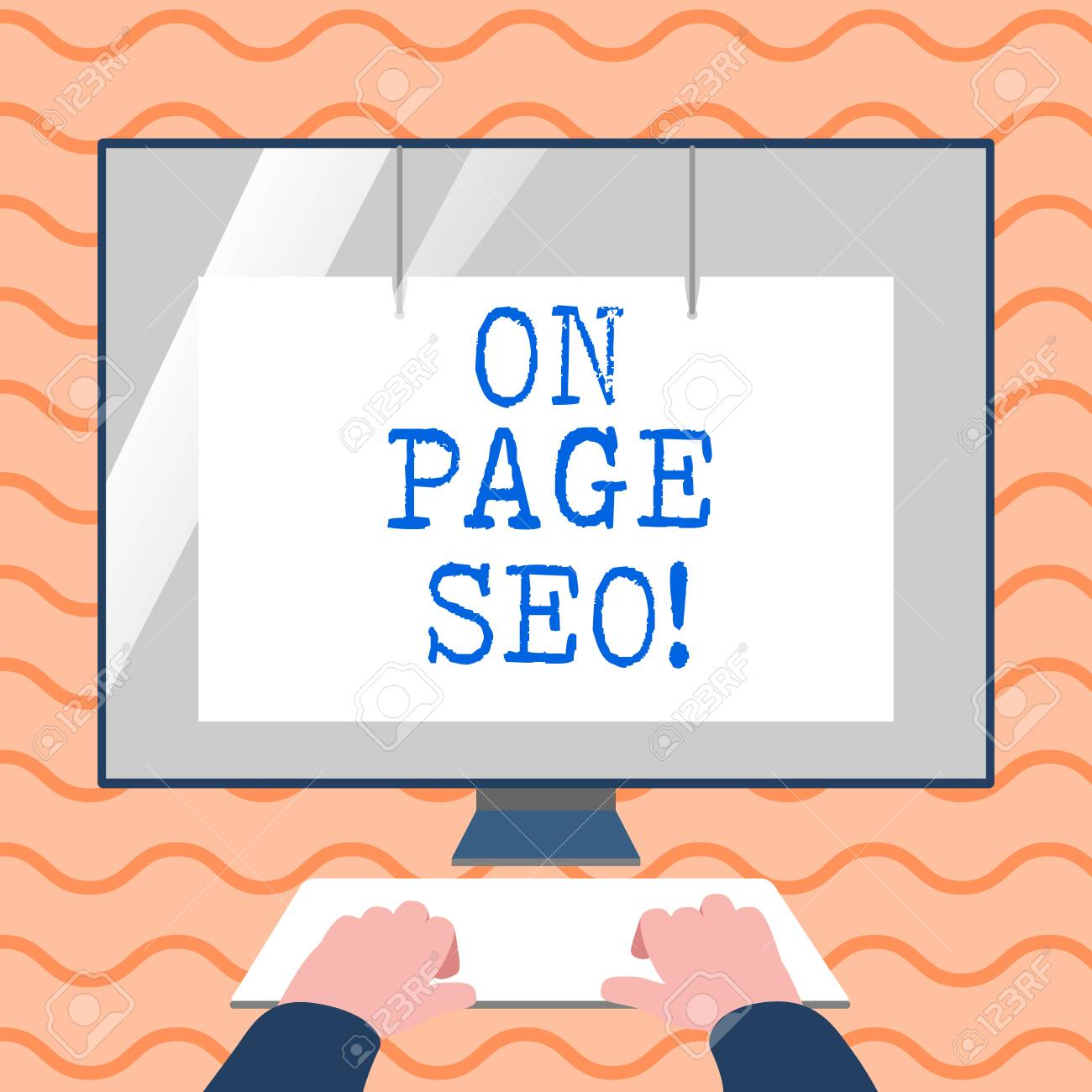Word writing text On Page Seo  Business photo showcasing measures