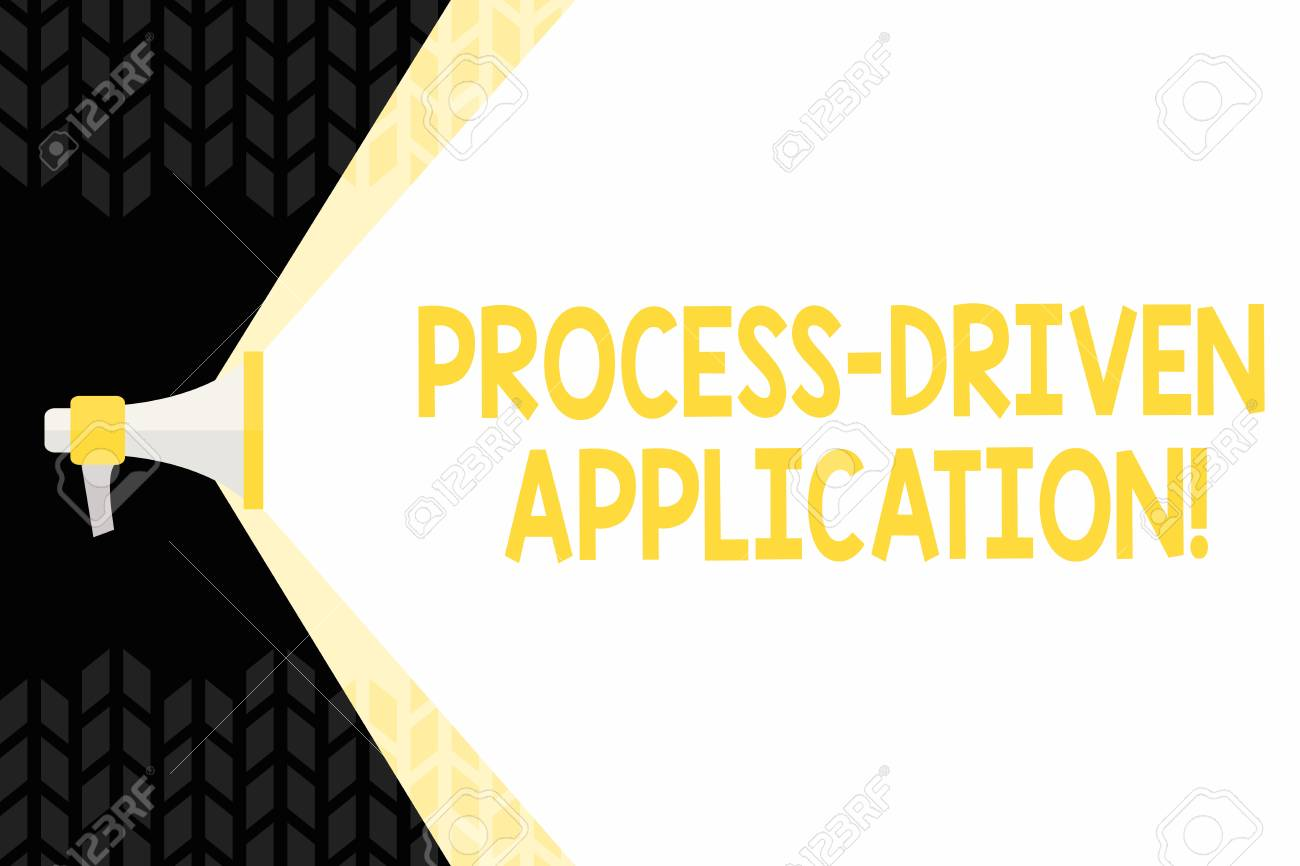 Text sign showing Process Driven Application  Business photo