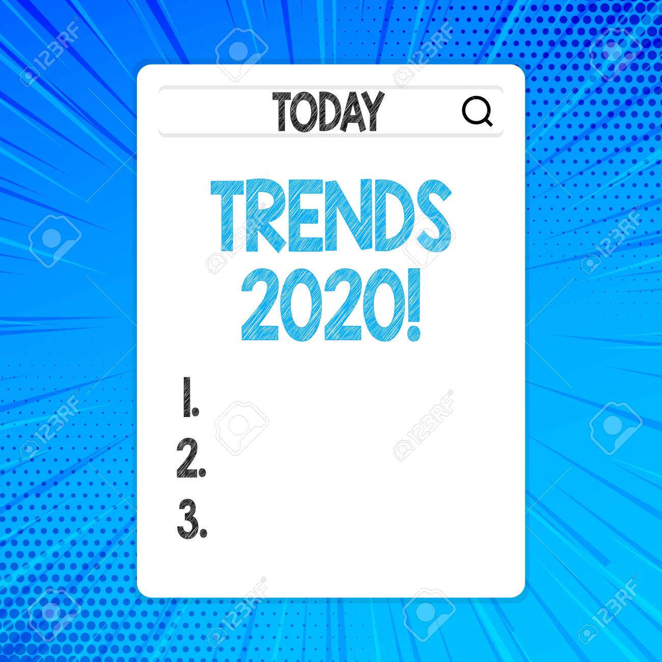 Music Trends 2020.Writing Note Showing Trends 2020 Business Concept For General
