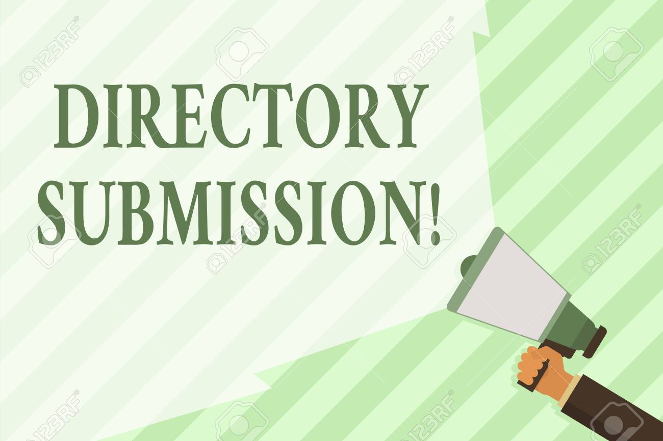 Word writing text Directory Submission  Business photo showcasing