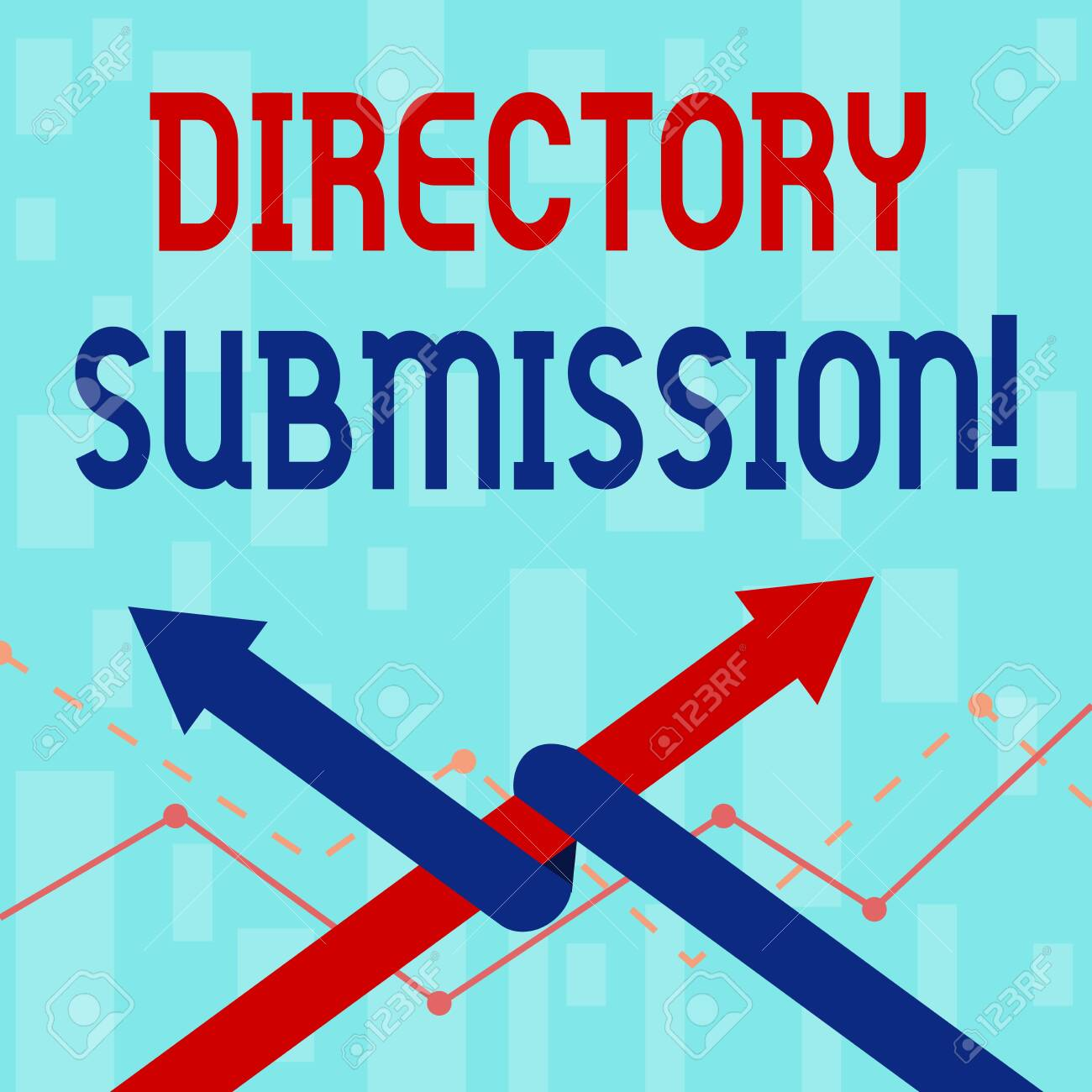 Writing note showing Directory Submission  Business concept for