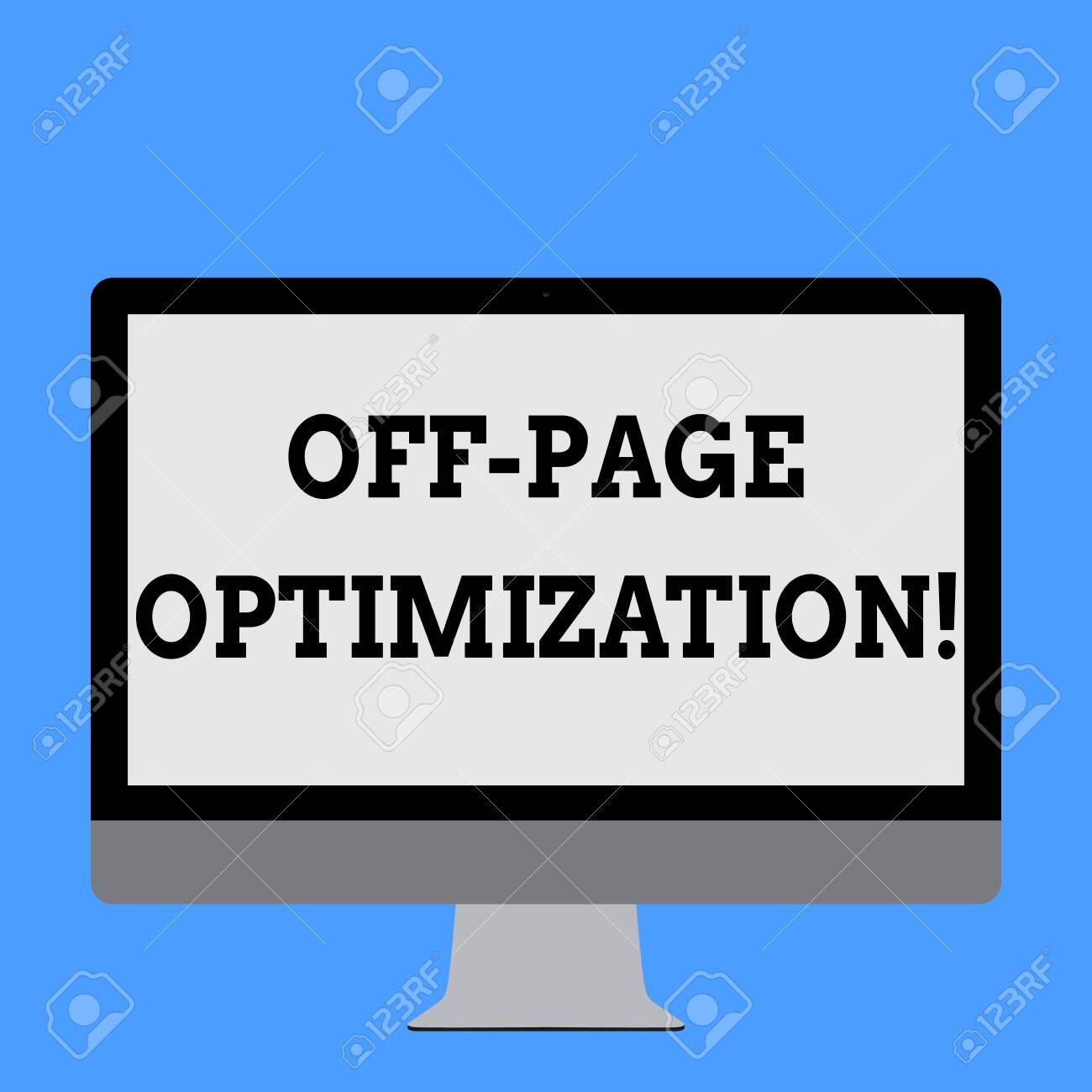 Word writing text Off Page Optimization  Business photo showcasing
