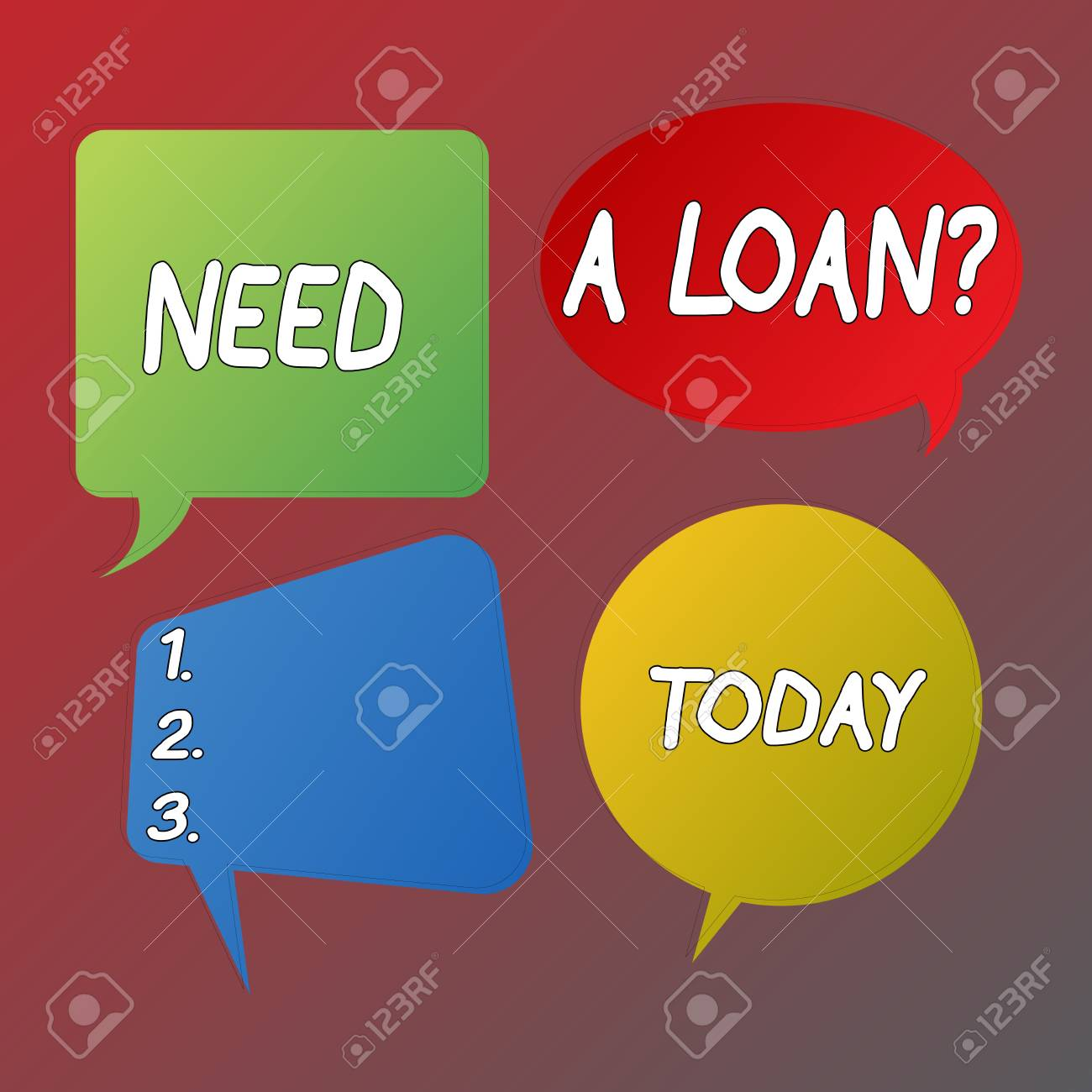 Handwriting text Need A Loan Question  Conceptual photo asking
