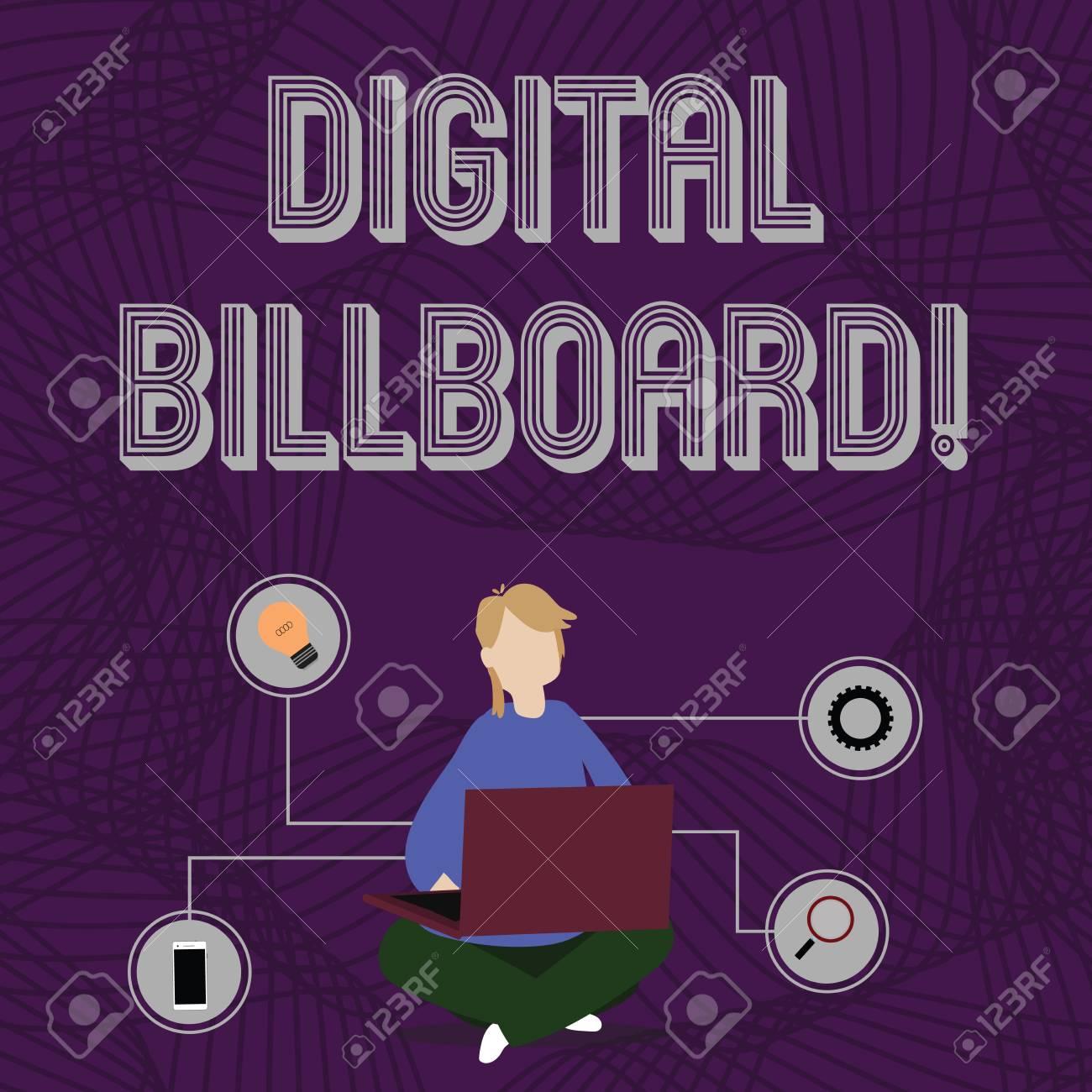 Word writing text Digital Billboard  Business photo showcasing