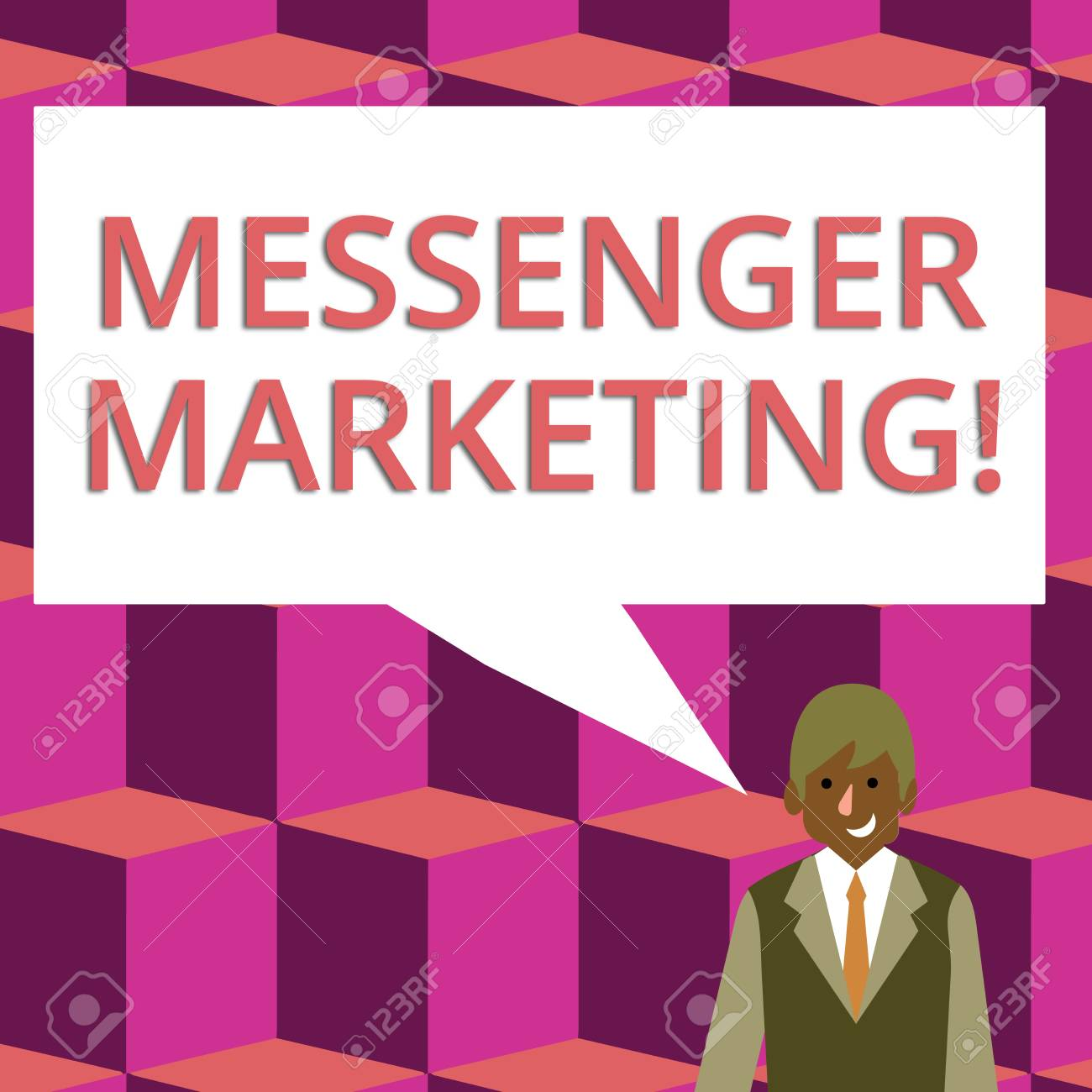 Text sign showing Messenger Marketing  Business photo text act