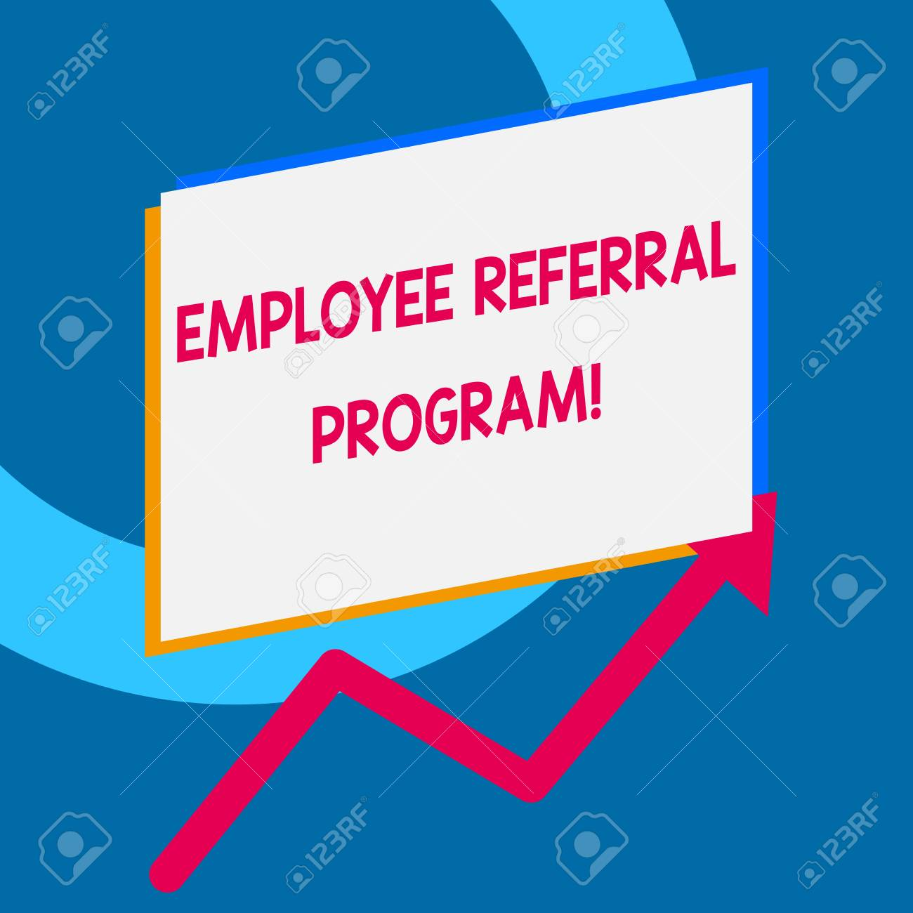 Writing note showing Employee Referral Program  Business concept