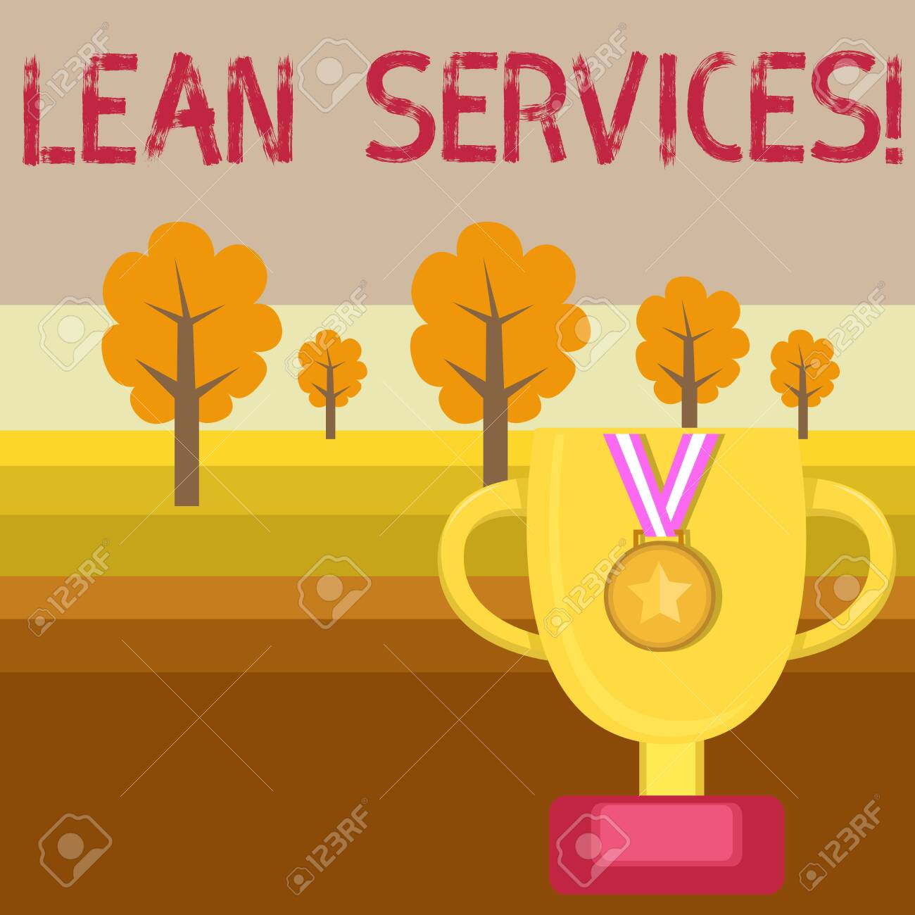 Conceptual hand writing showing Lean Services  Concept meaning
