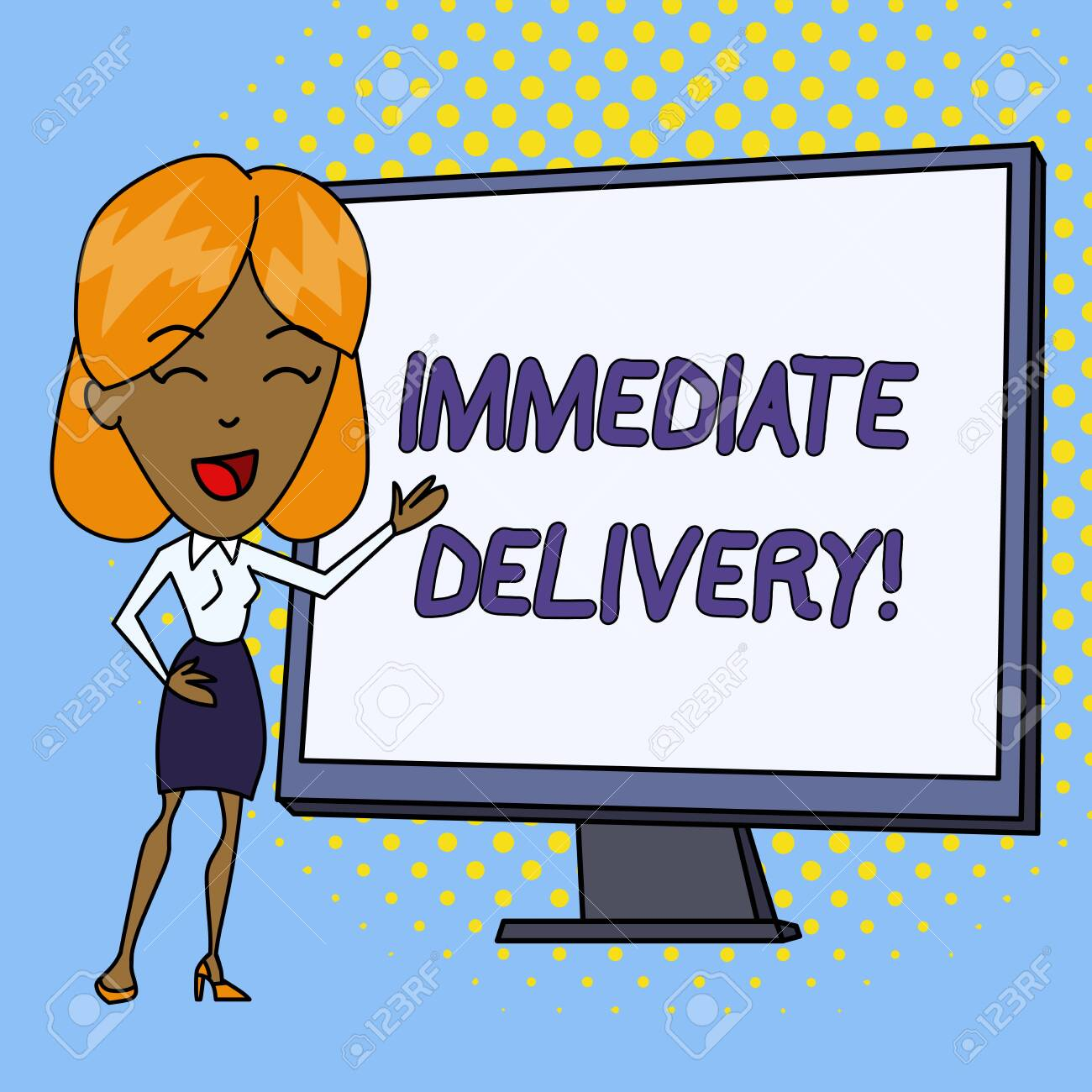 Word writing text Immediate Delivery  Business photo showcasing