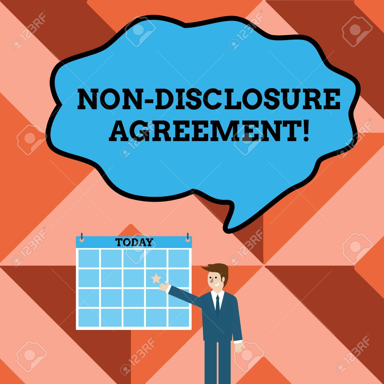 Conceptual Hand Writing Showing Non Disclosure Agreement Concept