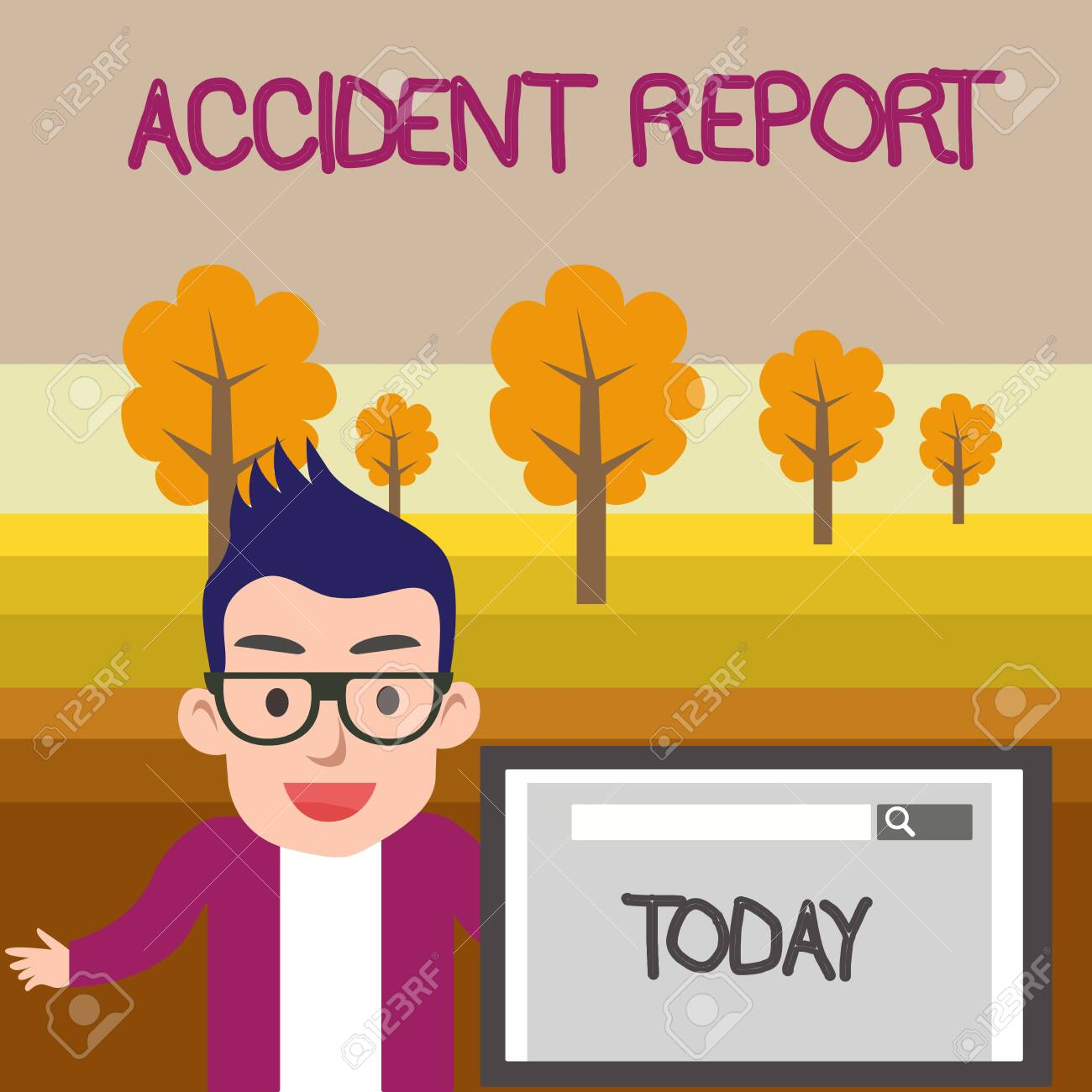 Text sign showing Accident Report  Business photo text A form