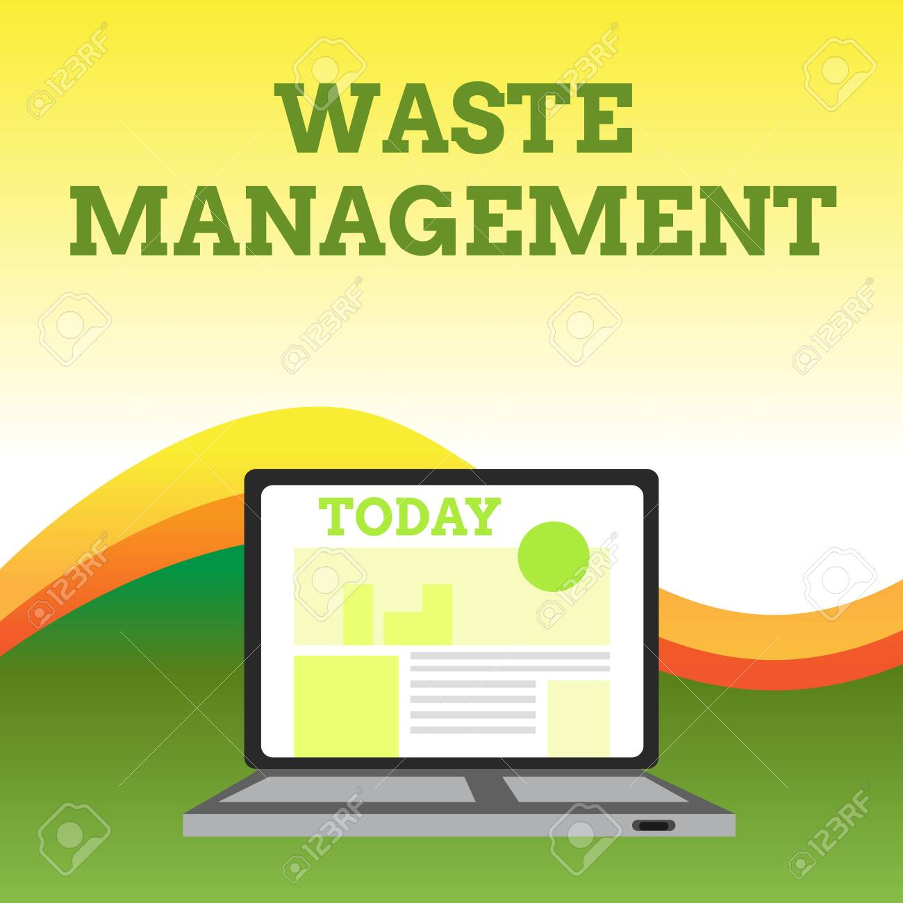 Text sign showing Waste Management  Business photo showcasing