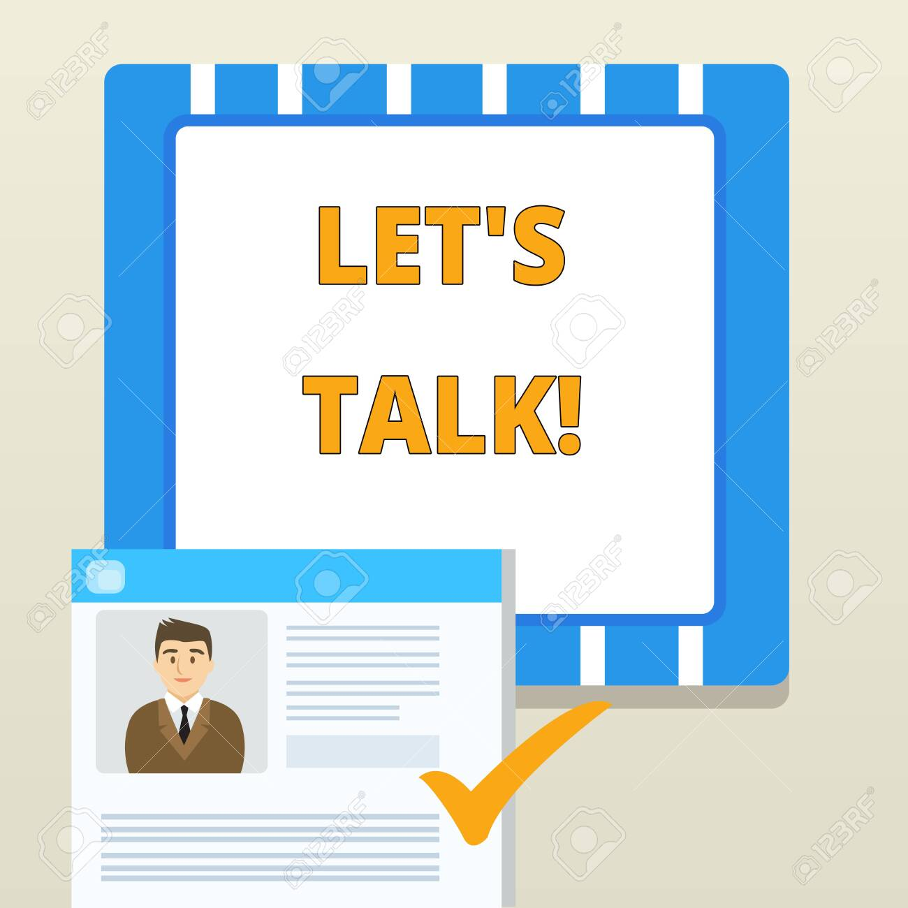 Word writing text Let's Talk. Business photo showcasing suggesting..