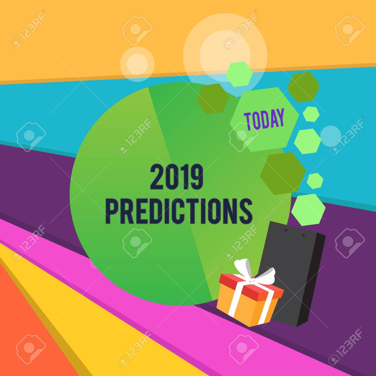 Word writing text 2019 Predictions  Business photo showcasing