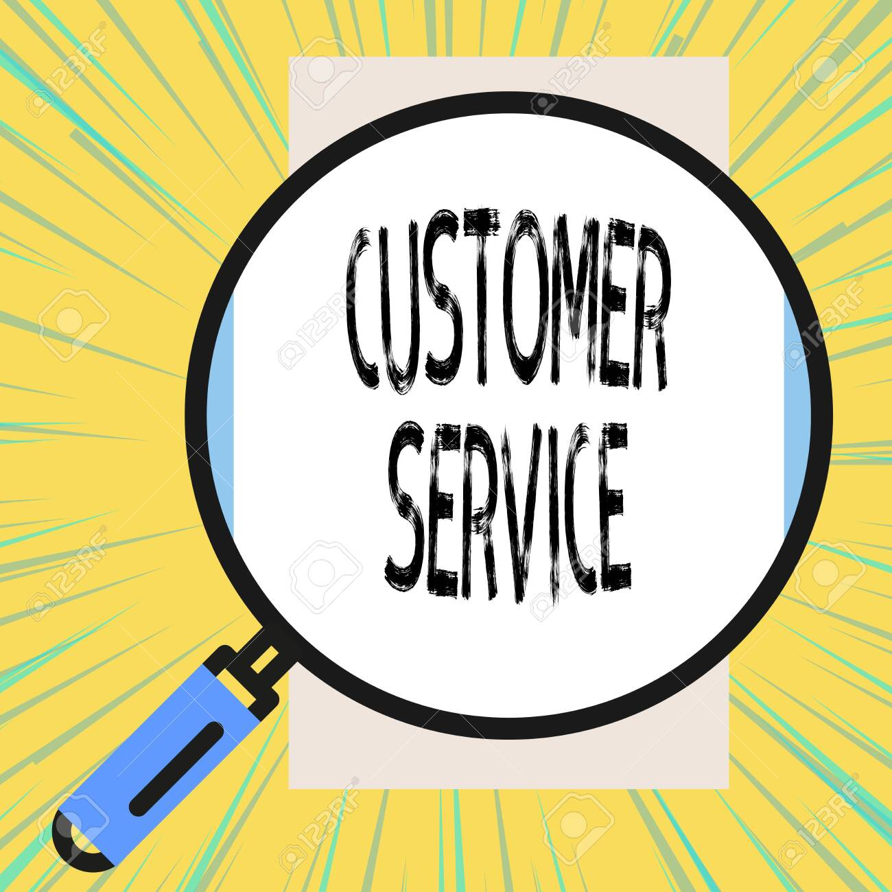 Writing note showing Customer Service  Business concept for process