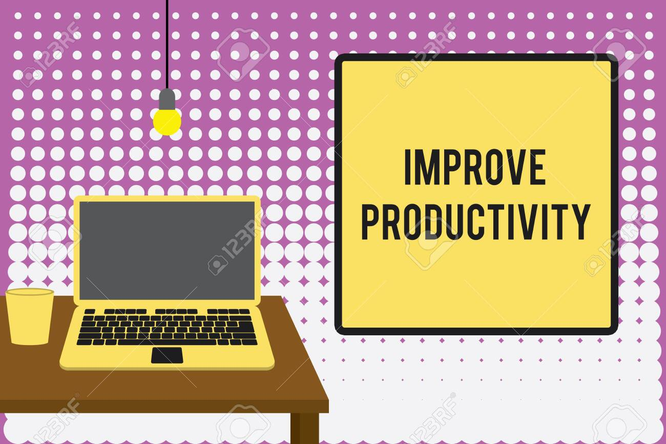 Conceptual hand writing showing Improve Productivity  Concept