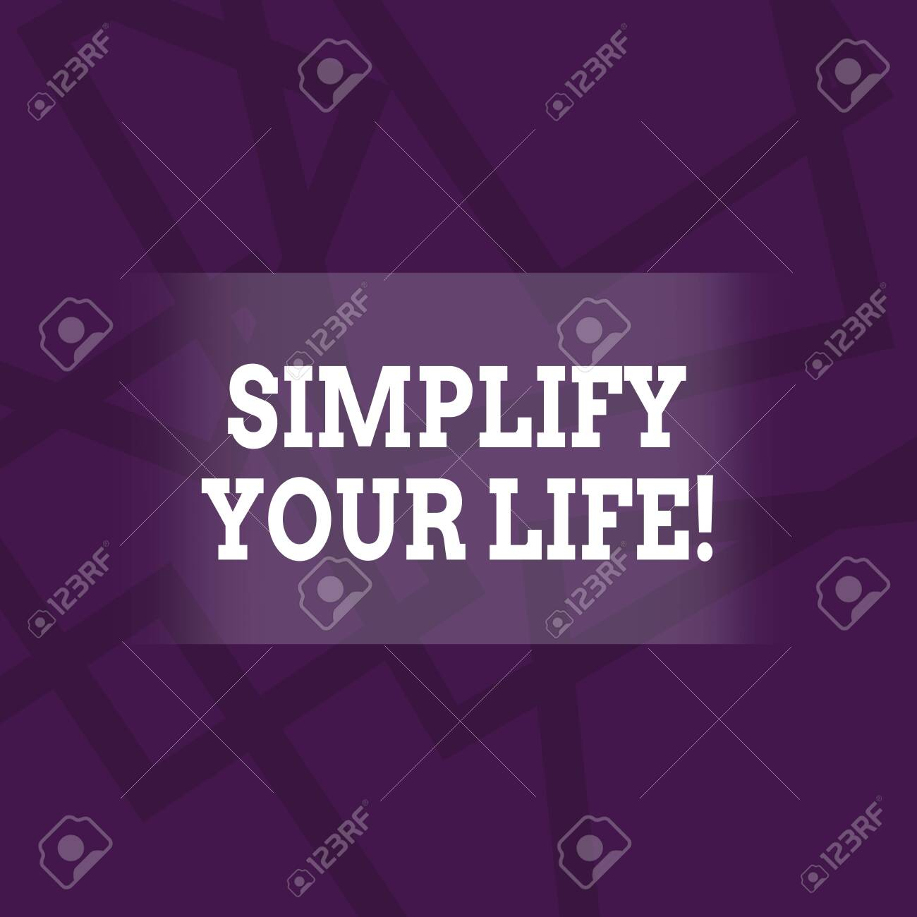 Conceptual Hand Writing Showing Simplify Your Life Concept Meaning