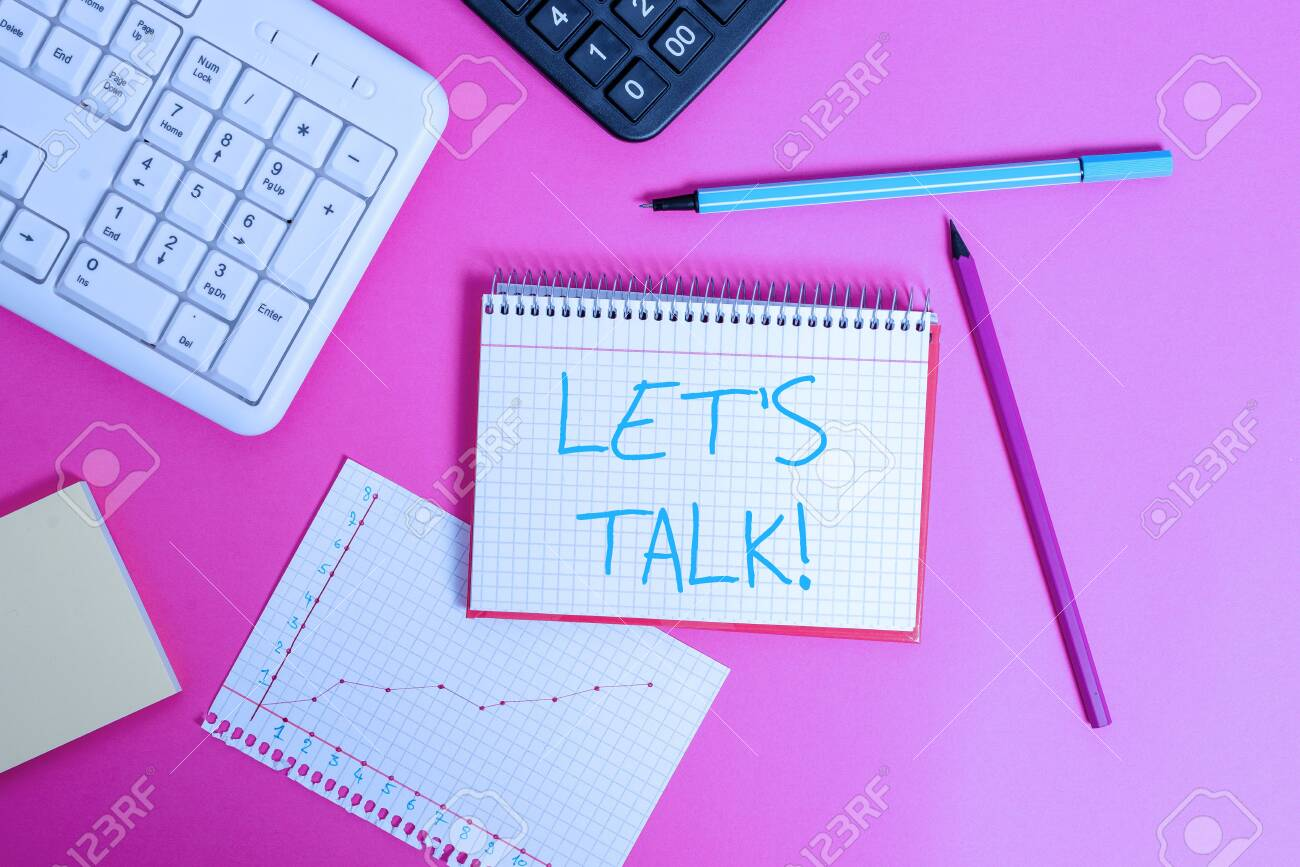 16 Word writing text Let S Is Talk. Business photo showcasing suggesting..