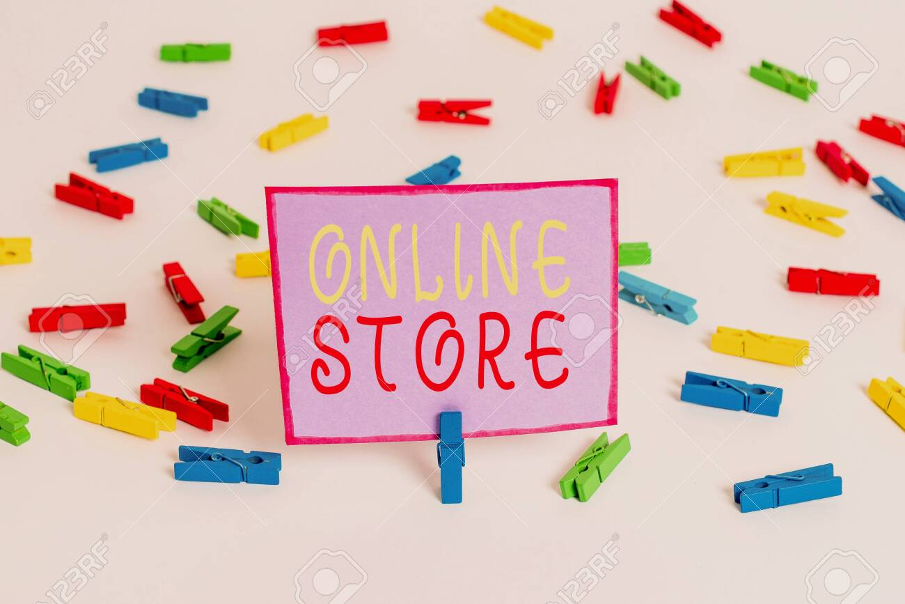 Conceptual Hand Writing Showing Online Store Concept Meaning Stock Photo Picture And Royalty Free Image Image 130156774