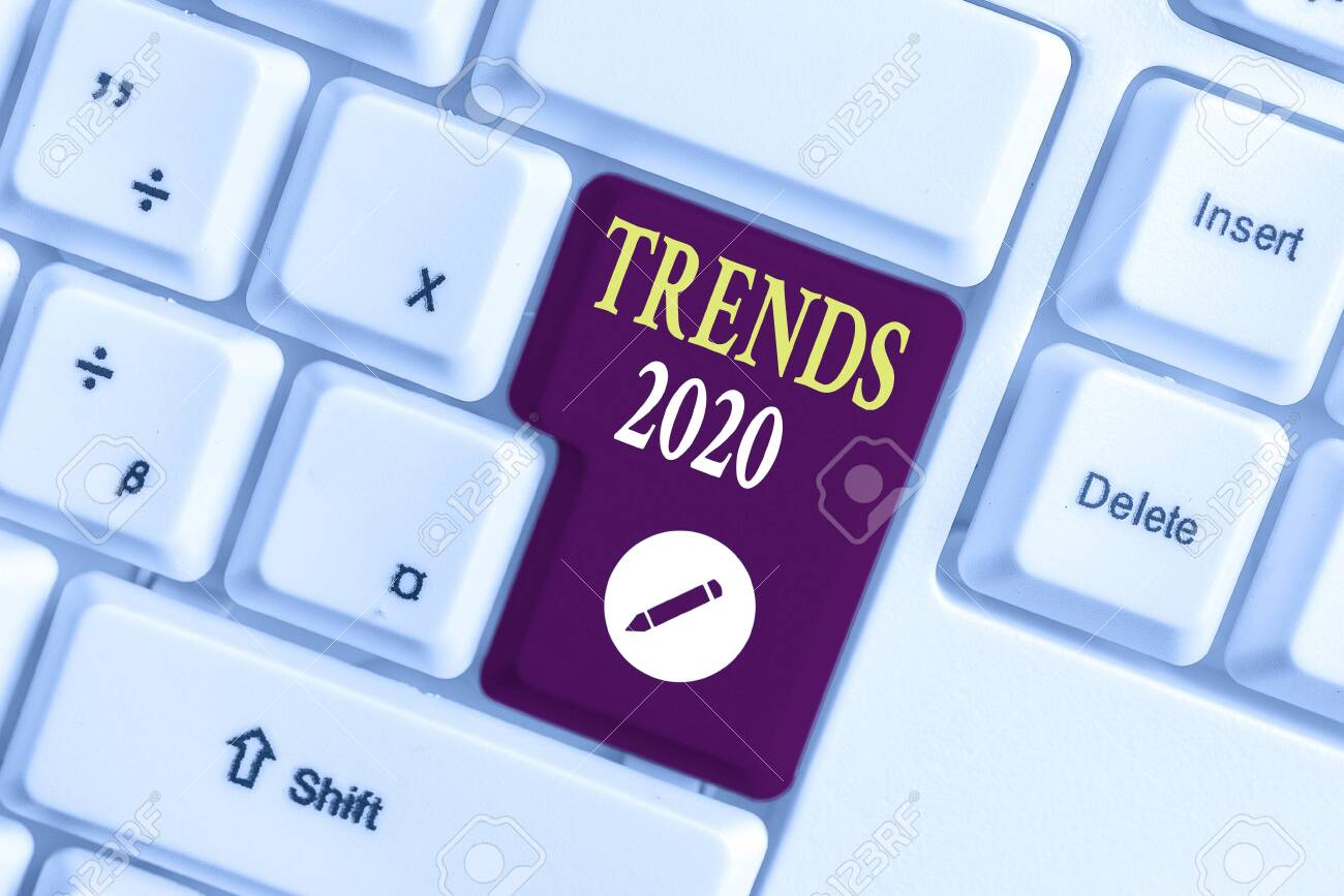 Music Trends 2020.Handwriting Text Writing Trends 2020 Conceptual Photo Upcoming