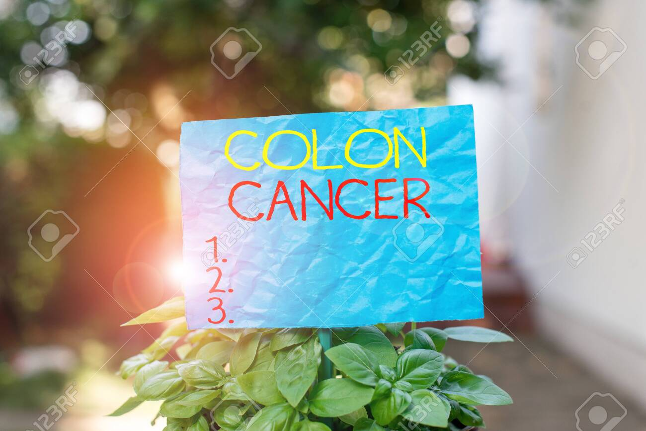 Conceptual Hand Writing Showing Colon Cancer Concept Meaning Stock Photo Picture And Royalty Free Image Image 131102390