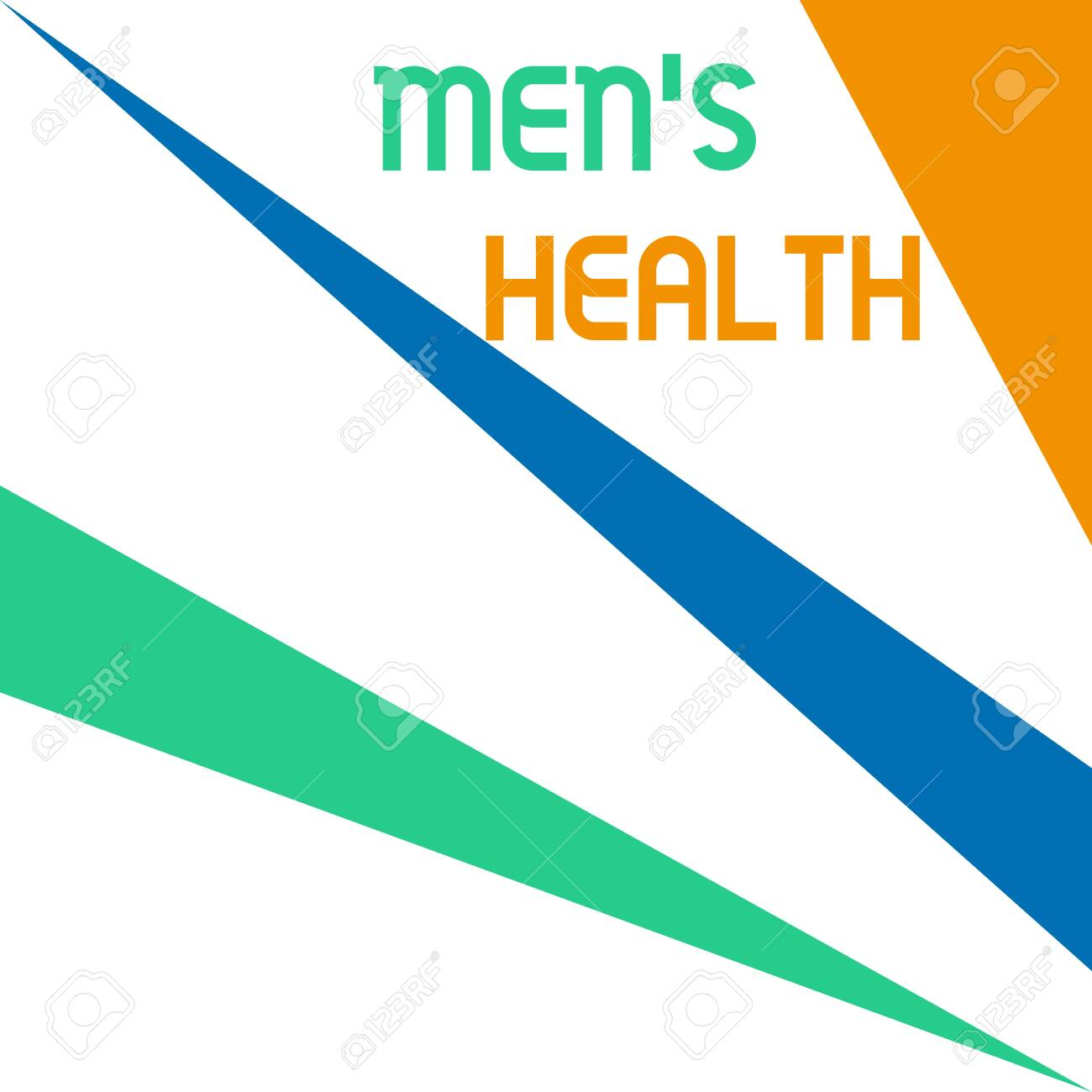 Word writing text Men S Health. Business photo showcasing State of complete physical and mental wellbeing of men Square rectangle paper sheet loaded with full creation of pattern theme - 131343962