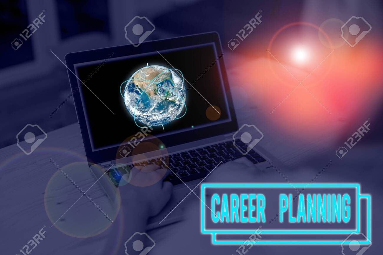 Word writing text Career Planning. Business photo showcasing Strategically plan your career goals and work success Picture photo system network scheme modern technology smart device - 132358843