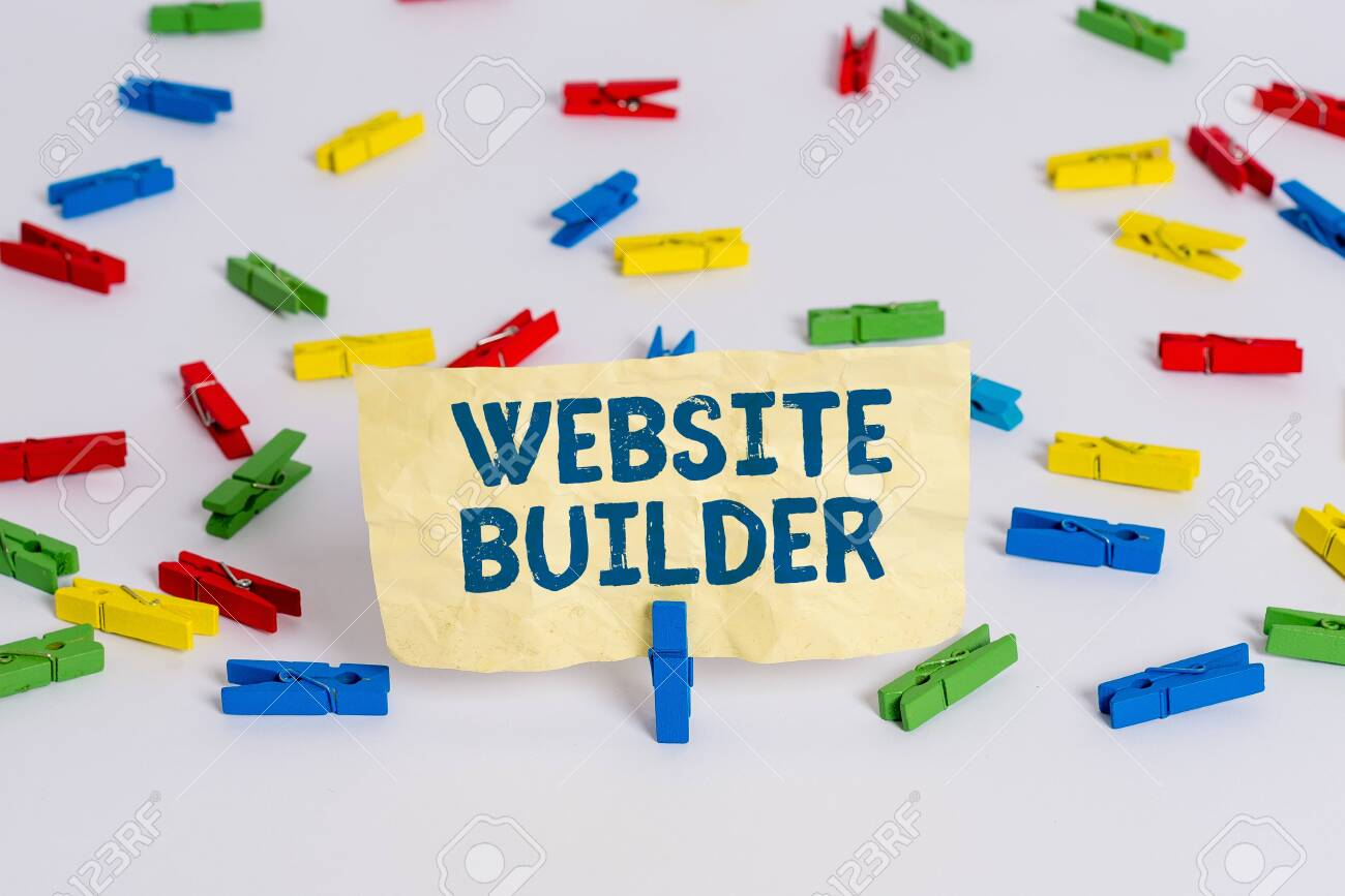 Handwriting Text Writing Website Builder Conceptual Photo