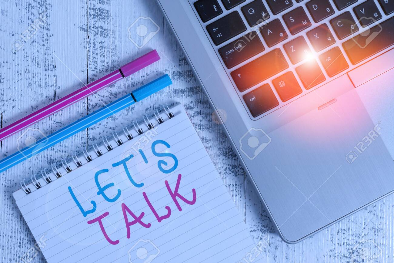 Word Writing Text Let Talk. Business Photo Showcasing To Discuss ...