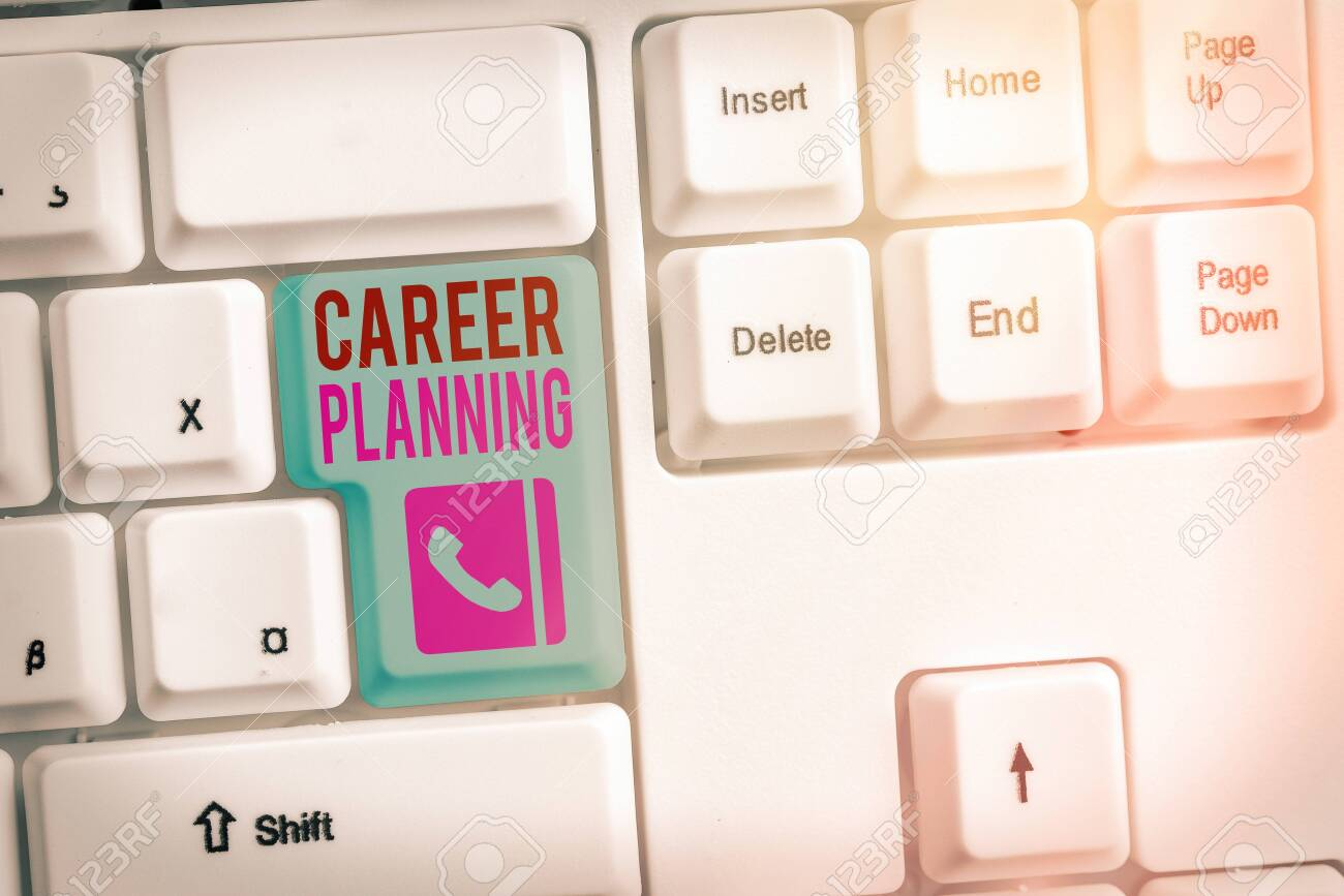Conceptual hand writing showing Career Planning. Concept meaning Strategically plan your career goals and work success - 146833496