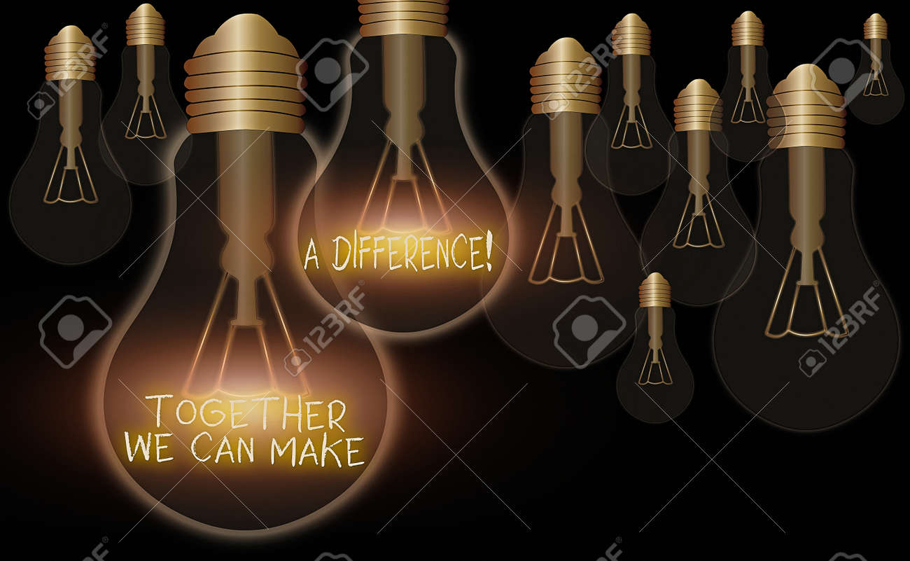 Handwriting text Together We Can Make A Difference. Conceptual photo be very important some way in like team or group - 148068240