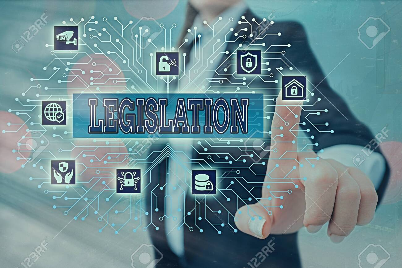Writing note showing Legislation. Business concept for the exercise of the power and function of making rules System administrator control, gear configuration settings tools concept - 152241084