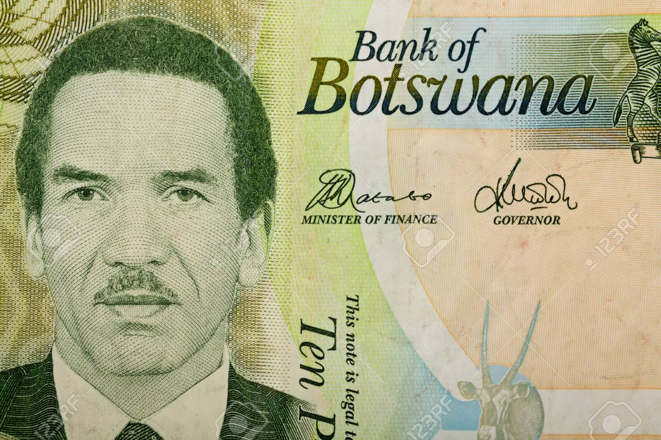Detail Of 10 Botswana Pula Banknote Botswana Pula Is The National